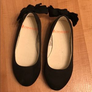 J Crew Girl Black Ballet Slippers with bow